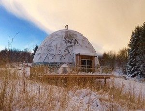 glamping : tente dome
