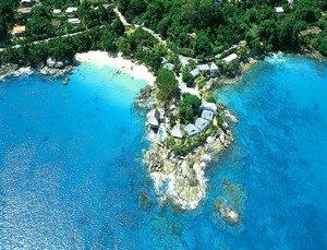 lagon de Mahé aux Seychelles