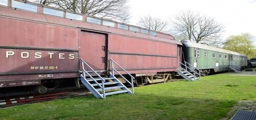 dormir dans un vieux train