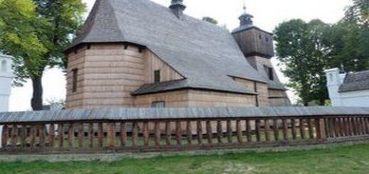 l'église en bois de Blizne en Pologne